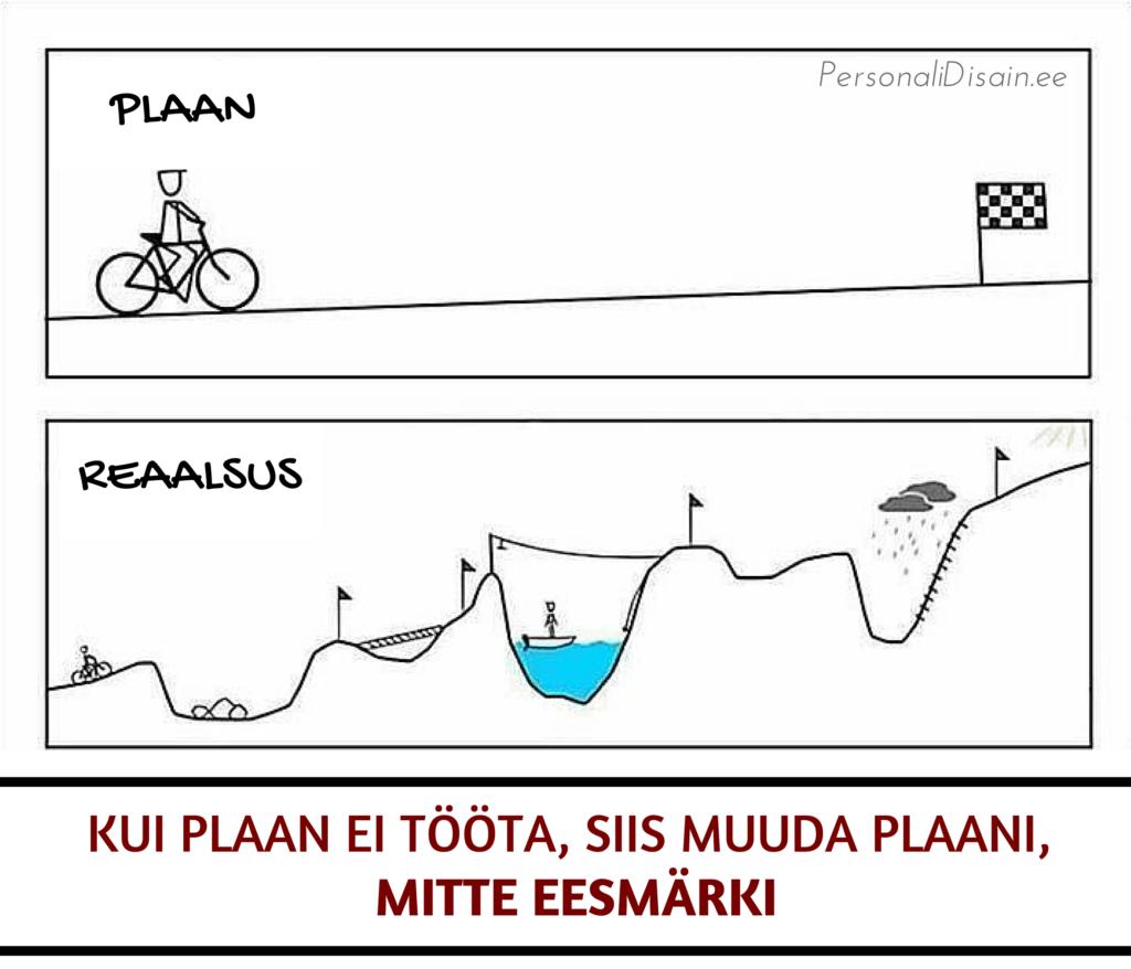 Kui plaan ei tööta, siis muuda plaani, mitte eesärki_personalidisain